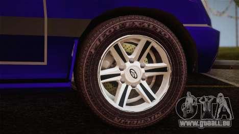 Toyota Land Cruiser 100VX pour GTA San Andreas sur la vue arrière gauche