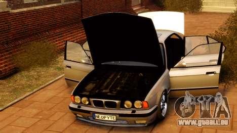 BMW M5 E34 1995 für GTA 4 Rückansicht