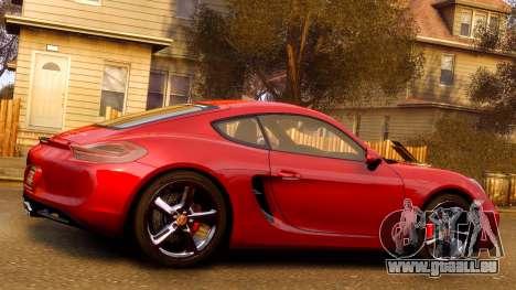 Porsche Cayman 981 S v2.0 pour GTA 4 Salon
