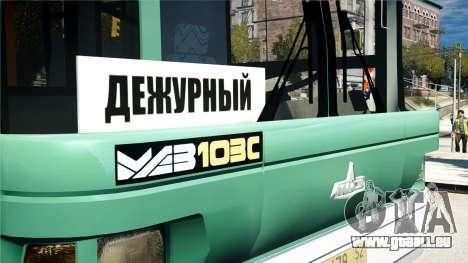 MAZ STRV 103 pour GTA 4 Vue arrière