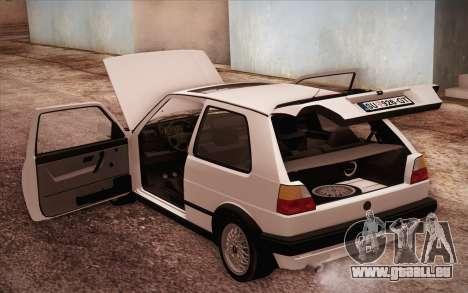 Volkswagen Golf Mk2 GTI pour GTA San Andreas vue de côté