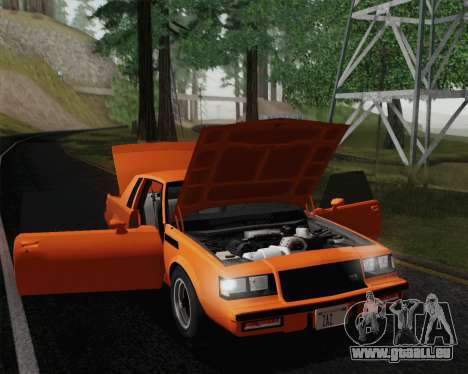 Buick GNX 1987 pour GTA San Andreas salon