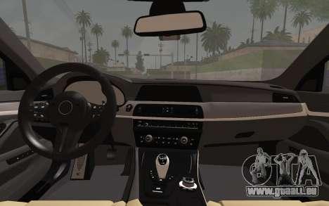 BMW M5 F10 v2 pour GTA San Andreas vue de droite