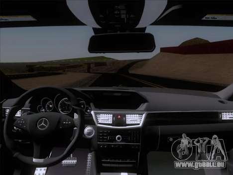 Mercedes-Benz E63 AMG 2011 Special Edition pour GTA San Andreas vue de dessus