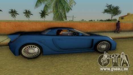 Toyota MR-S Veilside Hardtop pour GTA Vice City sur la vue arrière gauche