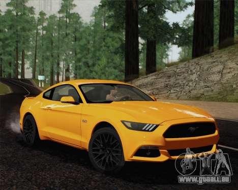 Ford Mustang GT 2015 pour GTA San Andreas vue de droite