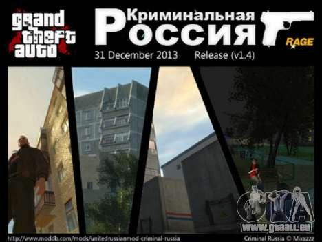 Kriminelle Russland RAGE v1. 4 für GTA 4