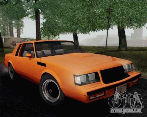 Buick GNX 1987 pour GTA San Andreas vue de dessous