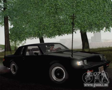 Buick GNX 1987 für GTA San Andreas zurück linke Ansicht
