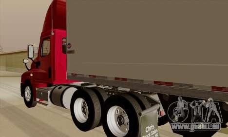 Freghtliner Cascadia Daycab 6x4 pour GTA San Andreas vue de droite