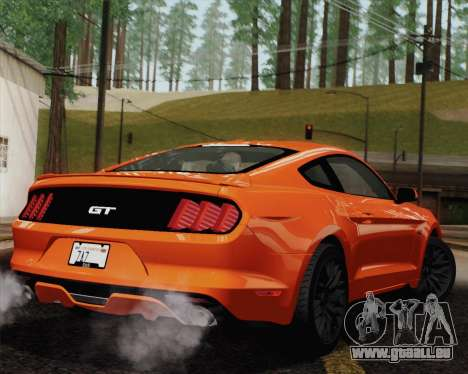 Ford Mustang GT 2015 pour GTA San Andreas moteur