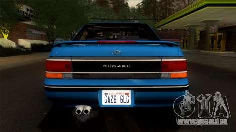 Subaru Legacy 2.0 RS (BC) 1989 pour GTA San Andreas vue intérieure