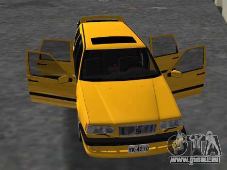 Volvo 850 R Estate für GTA Vice City Innenansicht
