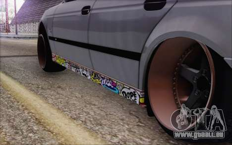 BMW M5 Street für GTA San Andreas zurück linke Ansicht