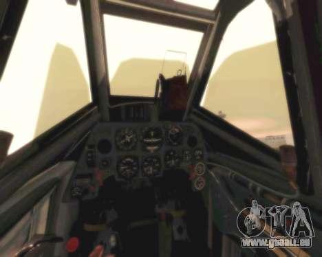 Bf-109 G6 pour GTA San Andreas vue intérieure