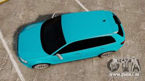 Audi RS3 Sportback [Typ 8PA] 2011 für GTA 4 rechte Ansicht