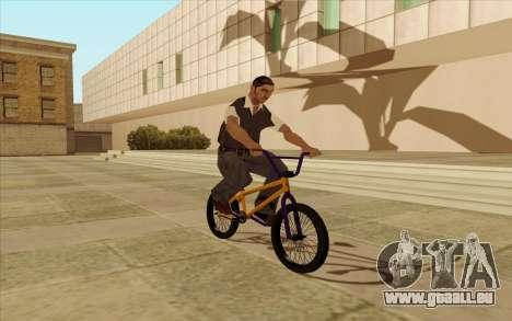 BMX pour GTA San Andreas vue de dessous