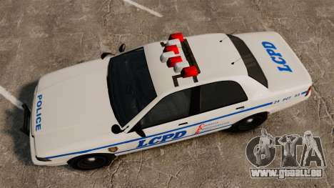 GTA V Police Vapid Cruiser LCPD für GTA 4 rechte Ansicht