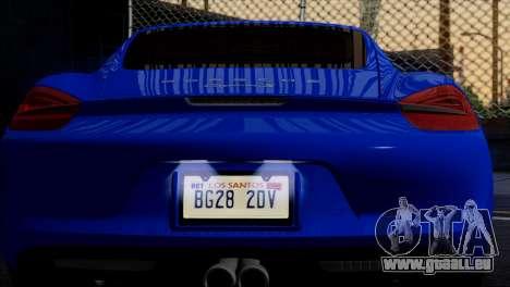 Porsche Cayman S 2014 für GTA San Andreas Räder
