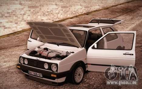 Volkswagen Golf Mk2 GTI pour GTA San Andreas vue intérieure