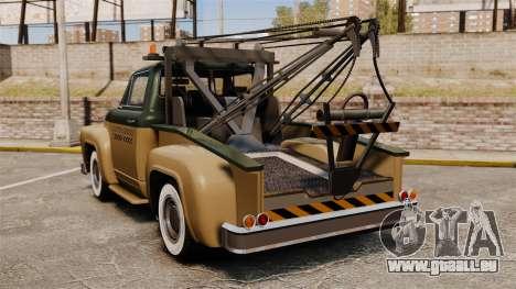 Towtruck Restored pour GTA 4 Vue arrière de la gauche