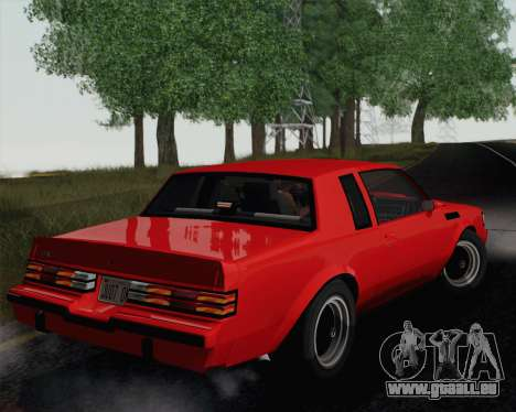 Buick GNX 1987 pour GTA San Andreas vue arrière