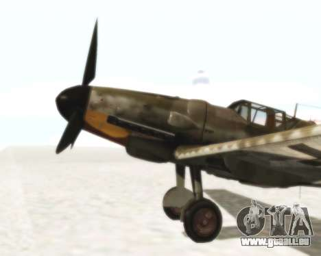 Bf-109 G6 pour GTA San Andreas vue de droite