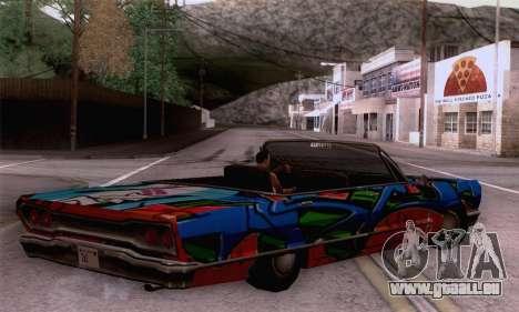 Die Malerarbeiten für Savanna für GTA San Andreas linke Ansicht