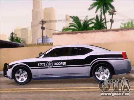Dodge Charger San Andreas State Trooper für GTA San Andreas Innen
