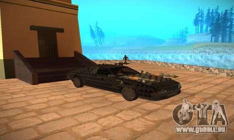 Cheetah Zomby Apocalypse pour GTA San Andreas vue arrière