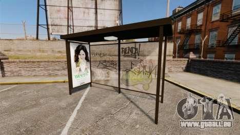 Neue Werbeplakate an den Bushaltestellen für GTA 4 Sekunden Bildschirm
