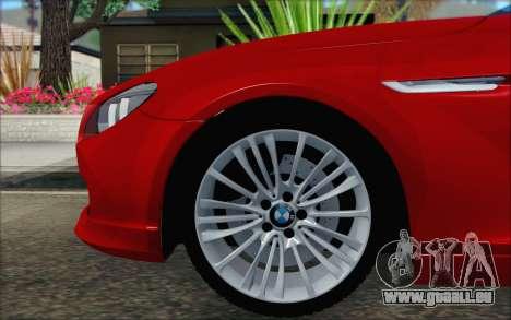 BMW 6 Gran Coupe v1.0 pour GTA San Andreas sur la vue arrière gauche