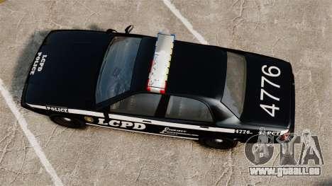 GTA V Vapid Police Cruiser [ELS] pour GTA 4 est un droit