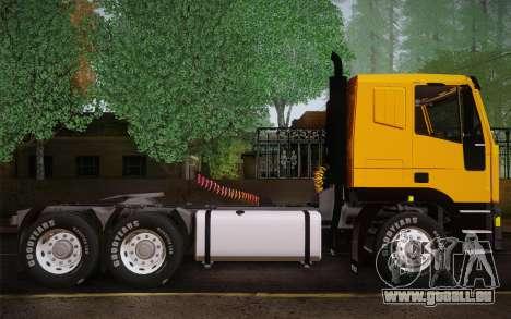 Iveco EuroTech 6x4 Doors pour GTA San Andreas sur la vue arrière gauche