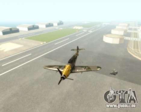 Bf-109 G6 v1.0 für GTA San Andreas Rückansicht