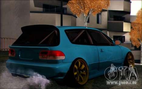 Honda Civic EG6 Tube Frame pour GTA San Andreas laissé vue