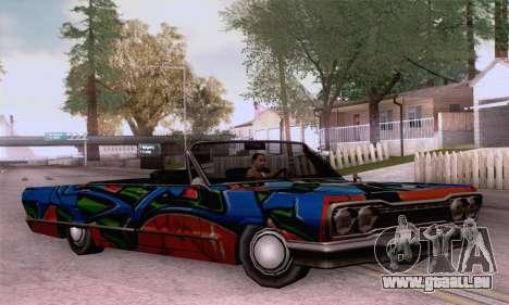 Die Malerarbeiten für Savanna für GTA San Andreas