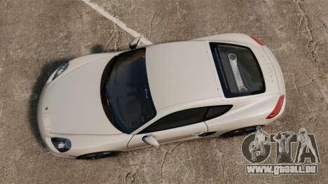 Porsche Cayman S 981C pour GTA 4 est un droit