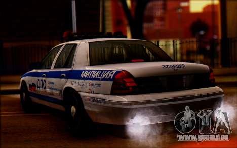 Ford Crown Victoria STR pour GTA San Andreas laissé vue