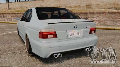 BMW M5 E39 2003 pour GTA 4 Vue arrière de la gauche