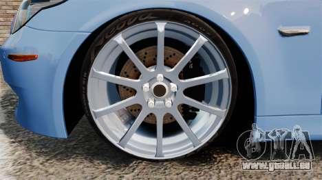 BMW M5 2009 für GTA 4 Rückansicht
