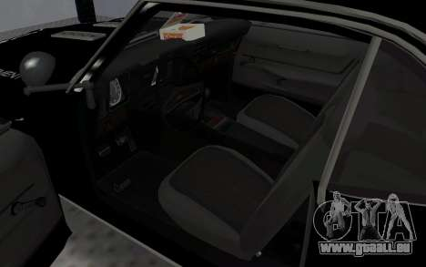 Chevrolet Camaro SS Police für GTA San Andreas Rückansicht