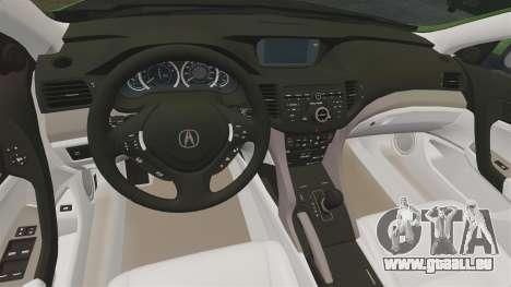 Acura TSX Mugen 2010 für GTA 4 Innenansicht