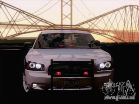 Dodge Charger San Andreas State Trooper für GTA San Andreas Innenansicht
