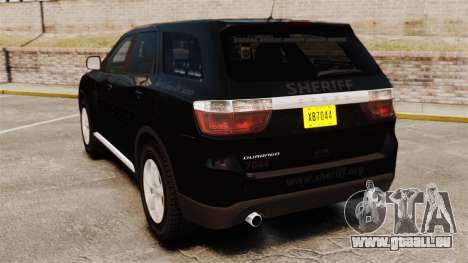 Dodge Durango 2013 Sheriff [ELS] pour GTA 4 Vue arrière de la gauche