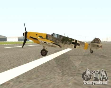 Bf-109 G6 v1.0 für GTA San Andreas zurück linke Ansicht