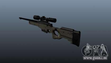 Fusil de sniper AI Arctic Warfare Police pour GTA 4 secondes d'écran