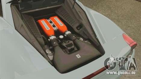 Ferrari 458 Italia 2009 für GTA 4 Innenansicht