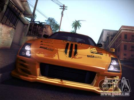 Toyota Supra Top Secret V12 für GTA San Andreas obere Ansicht