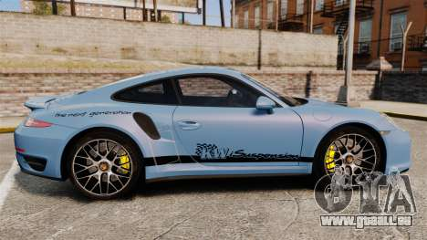 Porsche 911 Turbo 2014 [EPM] KW iSuspension für GTA 4 linke Ansicht